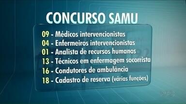 Concurso público para o SAMU - Vagas para médicos, enfermeiros e outras funções. Salários variam de R$1.500,00 a R$8.000,00.