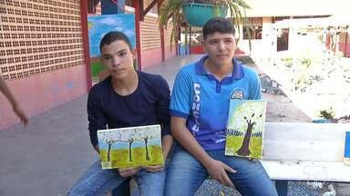 11 de agosto é comemorado o Dia do Estudante - Acompanhe a reportagem feita em uma escola municipal que estimula os estudantes a fazerem arte.