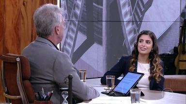 Tábata Amaral de Pontes conta sua trajetória para Bial - Ela relembra história dos pais e fala sobre participação em Olimpíadas escolares