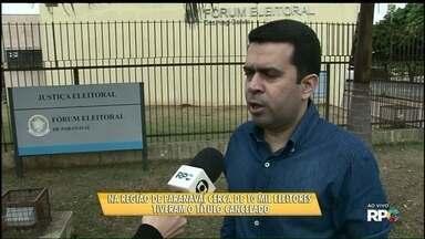 Dez mil títulos de eleitor são cancelados na região de Paranavaí - Os eleitores que não fizeram o cadastro biométrico precisam regularizar a situação.