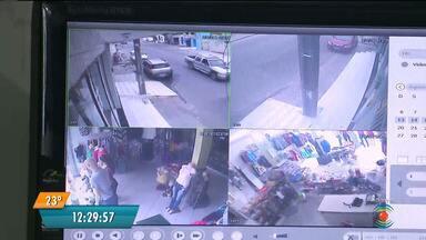 Mais uma loja de roupas vira alvo dos bandidos em Campina Grande - Segunda loja de roupas é assaltada em Campina Grande na mesma semana.