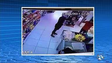 Vídeo flagra ação de criminosos em mercadinho - Crime ocorreu na zona rural de Caruaru.