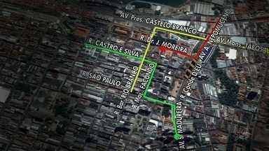 Avenida Alberto Nepomuceno, no Centro, será interditada a partir deste sábado (19) - O motivo são as obras de requalificação do Centro, que inclui intervenções na Rua José Avelino.