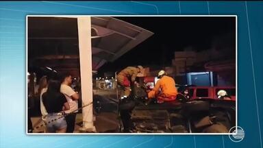 Homem sofre acidente na Avenida Miguel Rosa e bombeiros fazem resgate - Homem sofre acidente na Avenida Miguel Rosa e bombeiros fazem resgate