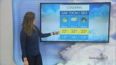 Confira a previsão do tempo para este sábado no Sul de Minas - Confira a previsão do tempo para este sábado no Sul de Minas