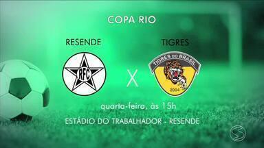 Confira as novidades dos times do Sul do Rio - parte 2 - Na quarta-feira, Resende decide vaga na próxima fase da Copa Rio.