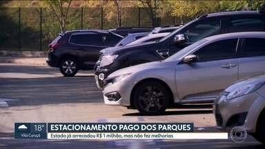 Moradores dizem que arrecadação com estacionamentos não foi revertida em melhorias - Moradores dizem que arrecadação do governo com estacionamentos na capital não foi revertida em melhorias.