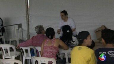 Tenda da cidadania no Ação Cidadania em Campo Grande - Um dos cursos mais procurados foi o de eletroeletrônicos.