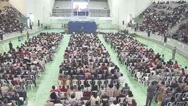 Congresso de Testemunhas de Jeová acontece neste fim de semana - Evento lotou a Arena Santos.