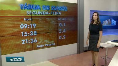 Confira a previsão do tempo para esta segunda-feira(21) na Paraíba - Litoral tem céu nublado com previsão de chuvas rápidas.