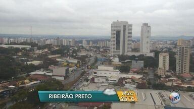 Previsão de chuva nessa segunda-feira (21) na região de Ribeirão Preto - Temperatura máxima na cidade deve ser de 25ºC.
