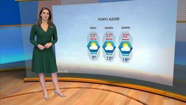 Tempo: amanhecer da terça-feira (22) deve ser com temperaturas baixas no RS - Assista ao vídeo.