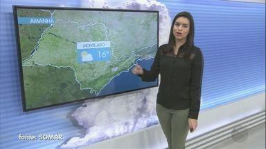 Veja a previsão do tempo para esta terça-feira na região de Ribeirão Preto - Em Colina, temperatura chega à casa dos 29 graus.