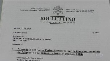 Vaticano divulga documento em defesa dos refugiados - Vaticano divulga documento em defesa dos refugiados.