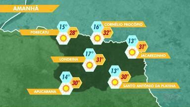 Confira como fica o tempo neste domingo (27) - Em quase todas as regiões do Estado os índices de umidade relativa do ar estão baixos.