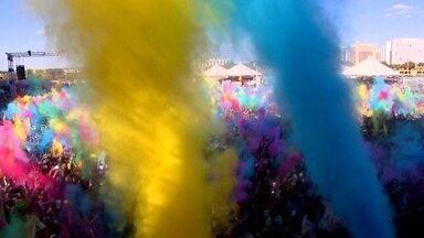 Happy Holi, um festival de cores que imita uma tradição indiana - Happy Holi, um festival de cores que imita uma tradição indiana , ao som de música eletrônica, ao lado do Mané Garrincha,.