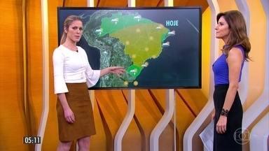Confira a previsão do tempo para a segunda-feira (28) - Veja como fica o tempo em todo país.