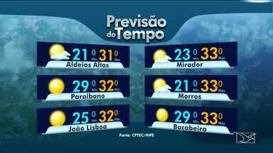 Veja as variações das temperaturas no Maranhão - Confira a previsão do tempo em São Luís e também no interior do estado.