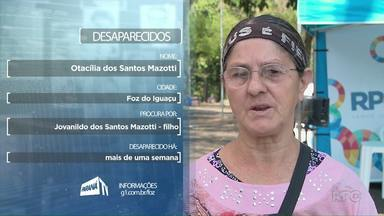 Dona Otacília procura pelo filho Jovanildo no Quadro Desaparecidos - Se você tem informações sobre ele, entre em contato pelo número: (45) 9 9951-5958.