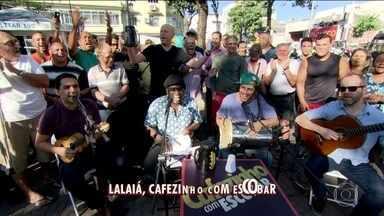 """""""Cafezinho com Escobar"""": em Bonsucesso, torcedores analisam situação dos clubes cariocas - Moradores do bairro falam sobre Flamengo, Botafogo, Vasco e Fluminense."""