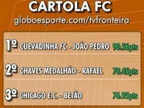 Confira a atualização do ranking do Cartola FC no Oeste Paulista - Líder marca mais de 90 pontos na última rodada do Campeonato Brasileiro.