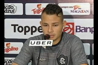 Jayme fala sobe gol marcado contra o Moto Club - Atacante do Remo voltou a marcar com a camisa do Leão Azul e ajudou equipe a continuar no G4 da Série C.