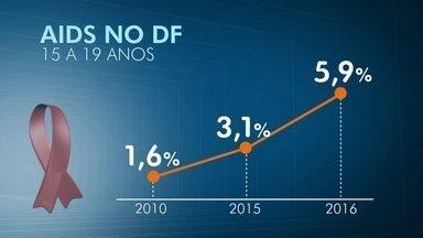Crescem os casos de Aids entre os jovens do DF - Os dados também mostram que o HIV tem crescido mais entre os homens.