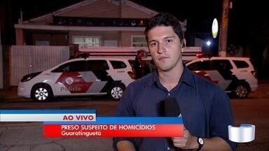 Polícia prende suspeito de ter matado três adolescentes em Guaratinguetá - Crime aconteceu no último domingo (27).