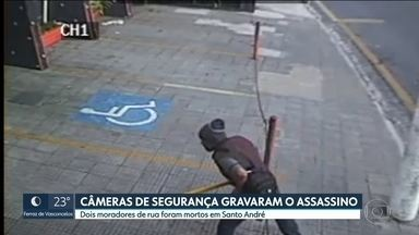 Polícia procura o homem que matou dois moradores de rua, em Santo André - Com esse caso, subiu para cinco o número de moradores de rua assassinados na capital e Grande São Paulo, só este mês.
