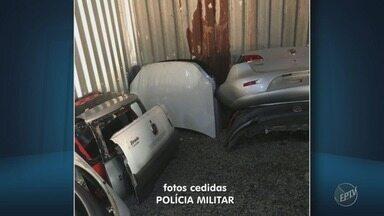 PM descobre desmanche ilegal de carros em Campinas - Operação criminosa funcionava em imóvel no bairro Fazenda Santa Cândida e contava com monitoramento por câmera.