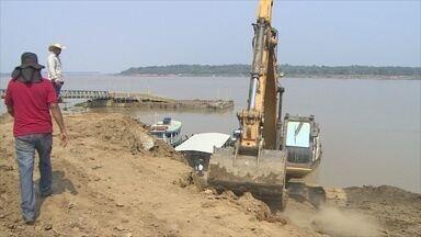 Colônia de pescadores investe em nova ampa de acesso no Porto Cai N'água - Terminal flutuante do local está interditado.