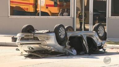 Divulgadas as imagens do acidente que matou duas mulheres no Aeroporto Viracopos - Carro em que elas estavam despencou de uma altura de 11 metros.