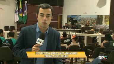 Projeto de lei quer aumentar valor das diárias de viagens de vereadores em Guarapuava - O valor com pernoite passaria a ser de R$800.