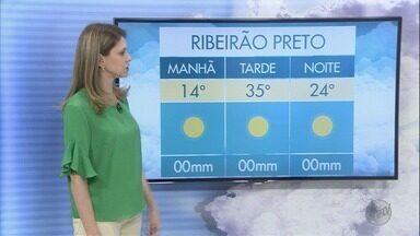 Veja a previsão do tempo para esta quarta-feira (30) na região de Ribeirão - Bebedouro deve registrar máxima de 36°C. Em Orlândia, expectativa de termômetros em torno de 34°c.