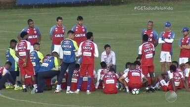 Sem jogos por uma quinzena, equipe do Bahia faz reuniões no Fazendão - Preto Casagrande segue como técnico interino do tricolor.