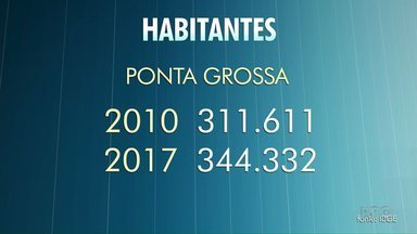 População de Ponta Grossa ultrapassa os 340 mil - Do ano passado pra cá, foram cerca de 10% de aumento na população da cidade.