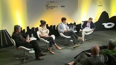 """Seminário """"Reage Rio"""" promove discussões sobre saídas para a crise do Rio - Especialistas, Empresários e representantes da sociedade civil buscam caminhos para reverter o cenário difícil em que o estado se encontra, em várias áreas."""