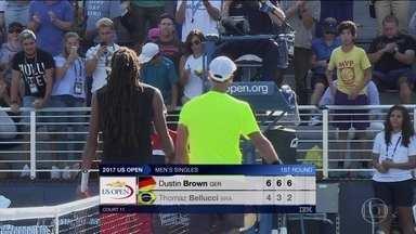 Brasileiros perdem e são eliminados no US Open - Brasileiros perdem e são eliminados no US Open.