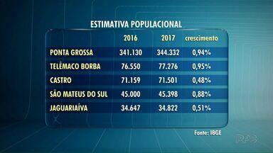 População de Ponta Grossa chega a 344 mil pessoas - Depois de Ponta Grossa, Telêmaco Borba e Castro são as cidades com o maior número de moradores nos Campos Gerais