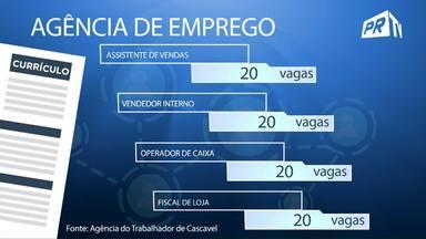 Veja quais são as 80 vagas de emprego divulgadas no Paraná TV desta quinta-feira - Todas são para interessados em atuar no comércio.