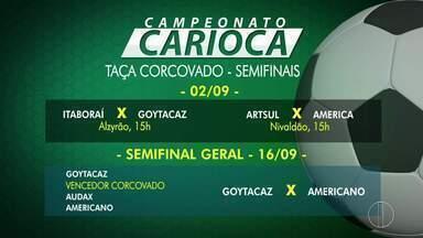Confira os semifinalistas do 2º turno da taça Corcovado no Campeonato Carioca - Assista a seguir.