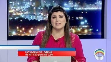 Passagem de ônibus vai subir de R$ 3,20 para R$ 3,50 em Lorena - Reajuste passa a valer a partir desta sexta (1º).