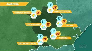 Temperaturas ficam amenas nesta sexta-feira - Máxima chega aos 23 graus em Ponta Grossa.