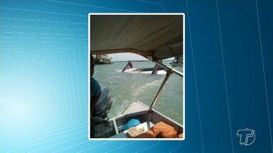 Capitania Fluvial de Santarém investiga causas de acidente com empurrador em Itaituba - O naufrágio aconteceu no último sábado (2). Todos os que estavam a bordo estão bem.