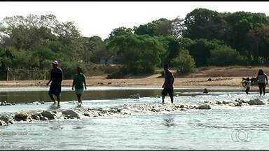 Termina prazo para que estrada feita no meio de rio ser destruída - Termina prazo para que estrada feita no meio de rio ser destruída