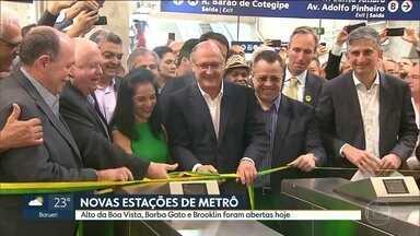 Governo de SP entrega três novas estações na linha 5-Lilás - A expansão começou em 2009 e só em 2014 foi entregue a estação Adolfo Pinheiro, que era a última da linha. Ainda faltam sete estações.