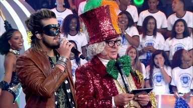 """Já sabe quem é o cantor mascarado? - Uma dica: ele canta """"Meteoro"""""""