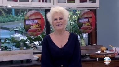 Ana Maria destaca o desempenho feminino no concurso 'O Melhor Hambúrguer do Brasil' - As receitas de Amanda, Kessia e Fernando foram selecionadas dentre as mais de 2 mil recebidas pela produção do programa