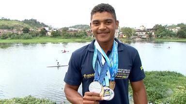 Mais um canoísta de Ubaitaba ganha destaque no país - Sávio Santana ganhou cinco medalhas no Brasileiro de Canoagem na categoria júnior.