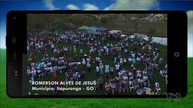 Confira imagens enviadas por telespectadores ao Jornal do Campo - Fotos registradas em Itapuranga mostram Romaria da Terra e das Águas.
